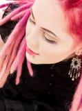 Pink hair girl Stock Photos