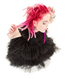 Pink hair girl Stock Photo