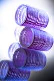 Pink hair rollers in studio Royalty Free Stock Image