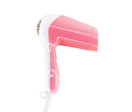 Pink hairdryer isolated Royalty Free Stock Photo