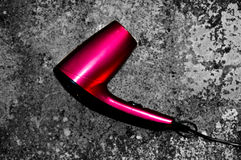 Pink hairdryer Stock Photography