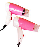Pink hairdryers isolated Royalty Free Stock Image