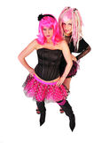 Pink haired punk women. Pink haired punk style women Stock Photo
