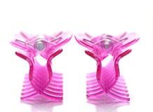 Pink hairpins Stock Image