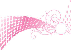 Pink halftone Royalty Free Stock Images