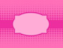 Pink halftone background Royalty Free Stock Image