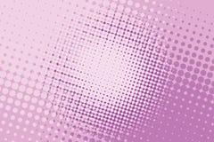 Pink halftone pop art background Stock Images