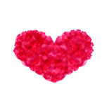 Pink hand-drawn watercolor heart isolated on white background fo Royalty Free Stock Image