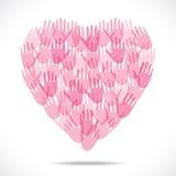 Pink hand make head shape Stock Photography
