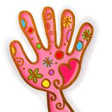 Pink Hand Paint Doodle Stock Photography