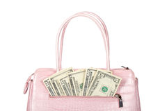 Pink handbag Stock Images