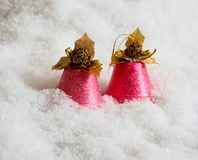 Pink handbells Stock Photography