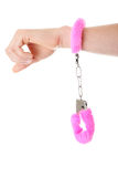 Pink handcuff Royalty Free Stock Images