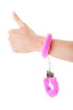 Pink Handcuff Royalty Free Stock Photo