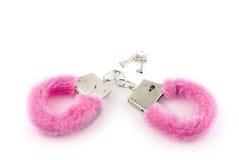 Pink Handcuffs Stock Photo