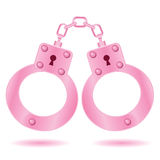 Pink handcuffs Stock Photography