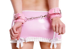Pink handcuffs Royalty Free Stock Photography