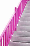 Pink handle bar on stairway. Stairway with pink handle bar Stock Photos