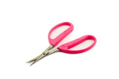 Pink handle scissors Royalty Free Stock Images