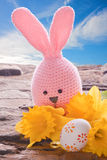 Bunny with easter egg Stock Images