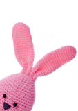Pink handmade wool easter bunny Royalty Free Stock Photo
