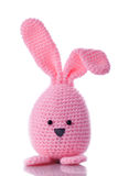 Pink handmadewool easter bunny Stock Photography