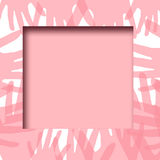 Pink hands frame Stock Photography