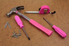 Pink handy tools dream Stock Images