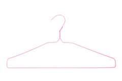 Pink hanger Royalty Free Stock Photography
