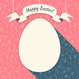 Pink Happy Easter Card Royalty Free Stock Photography
