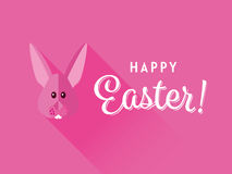 Pink Happy Easter Greeting Card Stock Photography