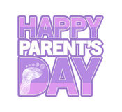 Pink Happy parents day sign Illustration design Royalty Free Stock Photo