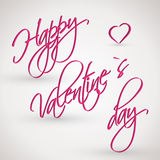 Pink happy valentines day card Royalty Free Stock Image