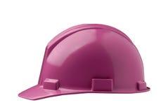 Pink Hard Hat. Shot on white background Stock Image