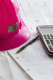 Pink Hard Hat 3 Royalty Free Stock Photography