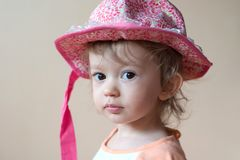 Pink hat Royalty Free Stock Images