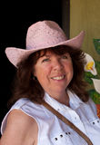 Pink Hat Lady Royalty Free Stock Photography