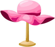 Pink hat on mannequin Stock Images