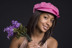 Pink hat teen Royalty Free Stock Photo