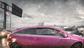 Pink hatch Royalty Free Stock Photography