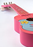 Pink Hawaiian ukulele Stock Photo