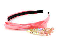 Pink Headband And Two Hairpins Stock Image