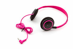 Pink headphones. Stock Photo