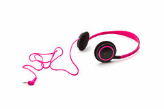 Pink headphones. Royalty Free Stock Photography
