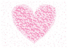 Pink heart. Pink love drops heart on the white background Stock Images