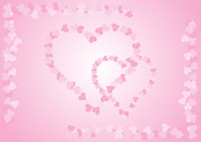 Pink heart. Simple illustration (special design for Valentine's Day Vector Illustration