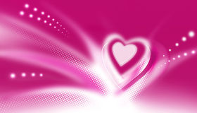 Pink heart. Raster pink heart on background for valentine's day Stock Photography