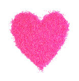 Pink heart. Of the balls Stock Images