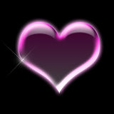 Pink heart. Illustrated shiny pink heart shape Stock Images