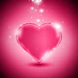 Pink heart. Valentines day card with glossy pink heart, eps10 vector illustration Royalty Free Stock Photography